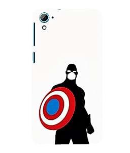 printtech Superhero Avengers Shield Back Case Cover for HTC Desire 826::HTC Desire 826 Dual