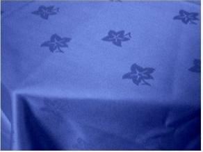 Blu Royal Edera Foglia cotone Tovaglia damascata,