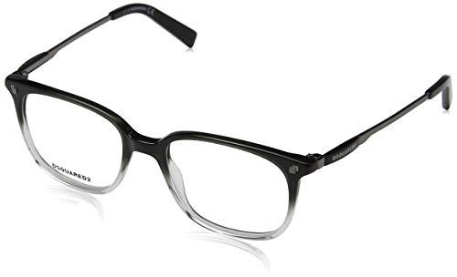 Dsquared2 dq5198, occhiali da sole uomo, (nero/cristallo), 51.0