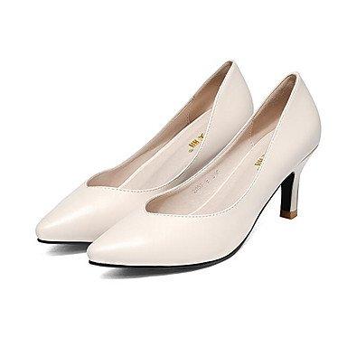 Lvyuan-ggx Womens Heels Formelle Chaussures Faux Cuir Printemps Automne Formelle Chaussures Blanc Carré Noir 12 Cm Et Plus Noir