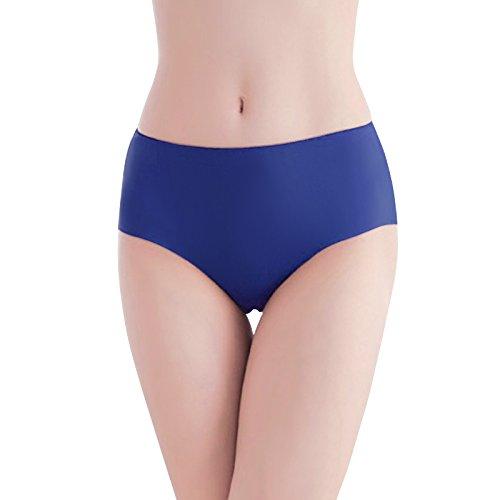 Damen Unterhose Panties von COLLEER, ultra Soft Bequem Nahtlos Alltags Hüftslip Panty Slips aus Baumwolle 3 Pack Rosa/Blau/Gelb