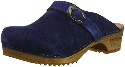 Sanita Damen Hedi Open Clogs, Blau (Navy 29), 39 EU