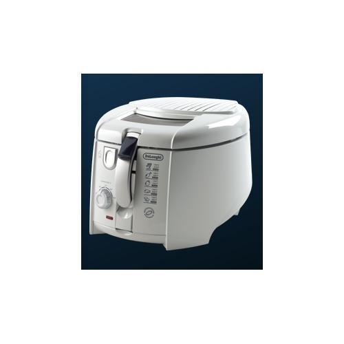DeLonghi Roto Fry Freidora con recipiente para el aceite extraíble, 1800 W, 1L, blanco
