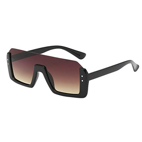 Hniunew Angesagte Mit Markantem Halbrahmen Sonnenbrille Vintage Retro Art Und Weiseklassische BerüHmtheits Mutige Starke Damen Sunglasses Travel Eyewear Damenbrillen GläSer