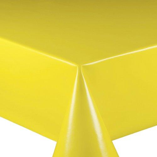 Wachstuch Wachstischdecke Tischdecke Gartentischdecke Glatt UNI Gelb Breite & Länge wählbar 120 x...