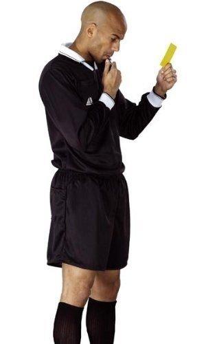 Schiedsrichter Trikot Shorts Fußball, Rugby, Hockey referee\'s Shirt-Uniform Shorts, Sport-Set schwarz schwarz S