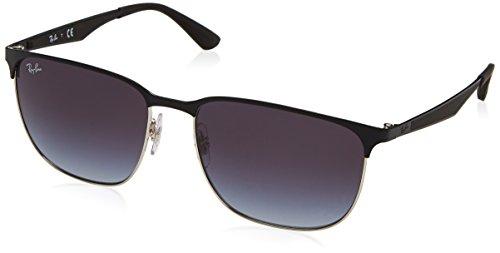 Ray-Ban RAYBAN Unisex-Erwachsene Sonnenbrille 0rb3569 90048g 59 Silver Top Black/Greygradientdarkgrey