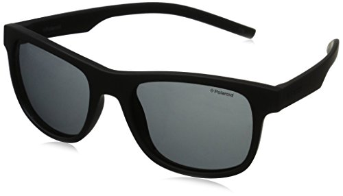 Polaroid pld 6015/s y2, occhiali da sole unisex-adulto, nero (black rubber/grey pz), 51