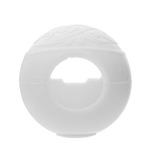 Webla White Elf Ball Griffabdeckung Silikon Schutzhülle Für Nintendo Switch Pokeball Plus Spiel Tasche Eevee (Weiß)