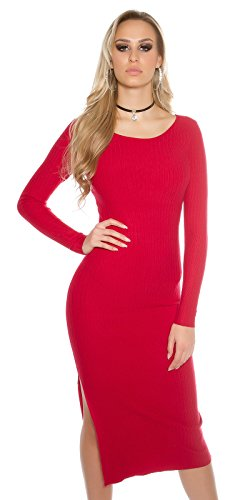 In-Stylefashion - Robe - Femme rouge Rot Rouge