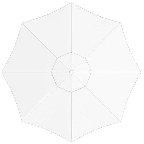 PARAMONDO Toile de rechange pour parasol avec Air Vent pour parasol Interpara (3,5m / ronde), blanche