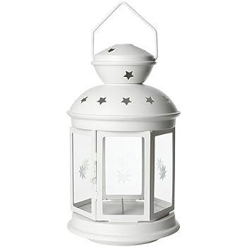 ikea laterne rotera windlicht kerzen teelichthalter aus stahl und glas in 21 oder. Black Bedroom Furniture Sets. Home Design Ideas