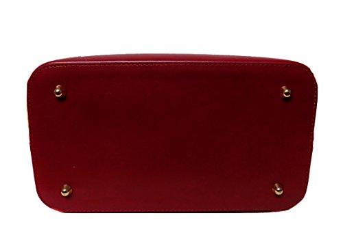 Borsa Donna a spalla in vera pelle made in Italy BC118 Rosso