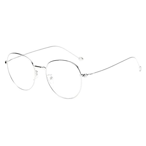 Haodasi Männer Frauen Metall Runden Rahmen Kurzsichtigkeit Myopia Eyewear Brille für Studenten -1.0 -2.0 -3.0 -4.0 -5.0 -6.0 mit Brille Shell (Diese sind nicht Lesen Brille)
