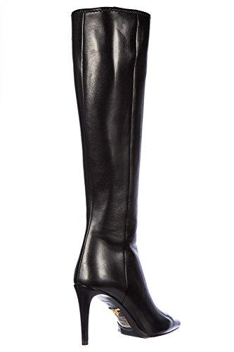 Prada bottes femme à talon en cuir nappa nero Noir