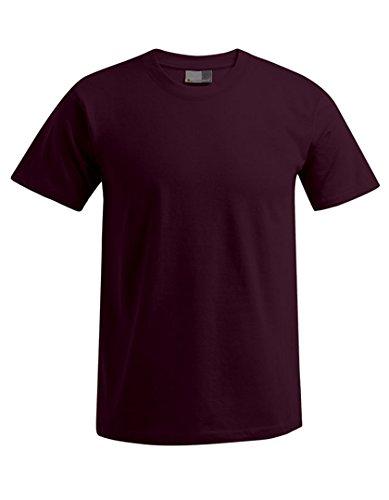 promodoro-camiseta-cuello-redondo-hombre-burgundrot-extra-large