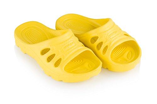 xKids Valencia Badeschuhe Badelatschen Schwimmbadschuhe Für Kinder Gelb Gr. 32 XK0214_32