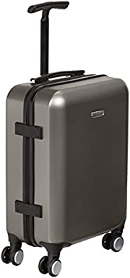 AmazonBasics Metallic Spinner Suitcase - Carry-on size, 55 x 40 x 20 cm, Graphite