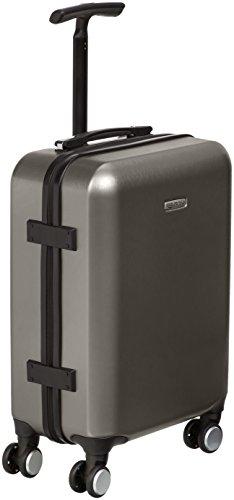 AmazonBasics Metallic Spinner Suitcase - Carry-on size, 55 x 40 x 20 cm, Graphite