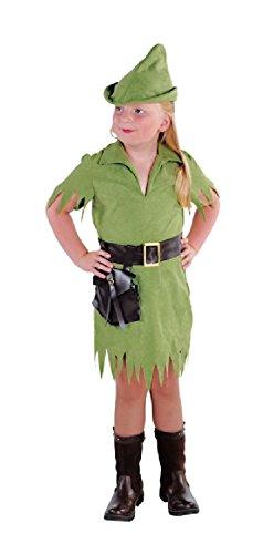 M212011-116-A Mädchen Kinder Robin Hood Jäger grün Kostüm Gr.116 (Jäger Kostüm Girl)