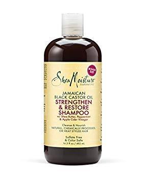 Shea Moisture Jam black Castor Grow und Restore Shampoo, 1er Pack (1 x 482 ml) -