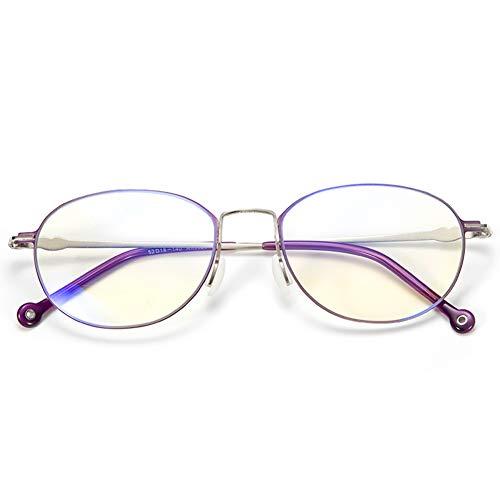 HQMGLASSES 2019 Damen Anti-Blaulicht-Lesebrille, asphärische Harzlinse strahlungsfeste Lesebrille ultraleichte Mode Rahmen geben Eltern 1.0 bis +3.0,Lila,+1.5
