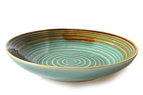 THE CHEF COLLECTION - Assiette Creuse 20, Collection Art, Porcelaine en couleurs, 20,5x20,5x4,1 cm