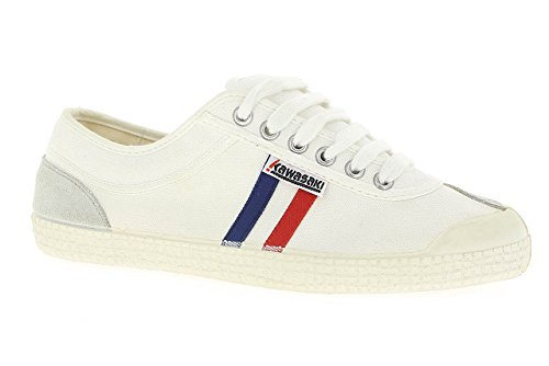 Kawasaki - Rainbow retro, Sneakers unisex, color Bianco (White/01), talla 45
