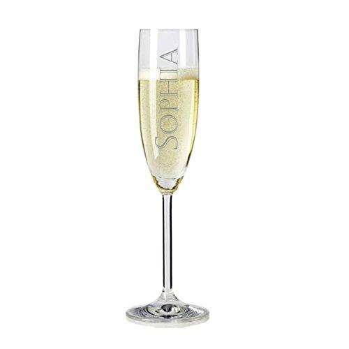 Leonardo Sektglas mit personalisierter Gravur Name graviert als Geschenk für Geburtstag Partner Freunde individuell
