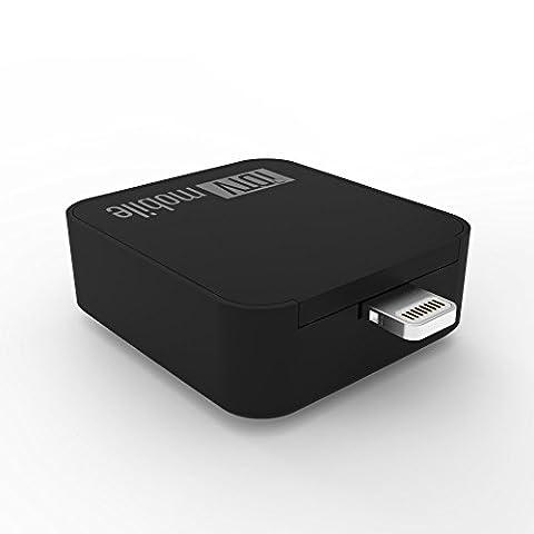 IDTV ultrakompakter DVB-T Empfänger für iOS mit Lightning Stecker inklusive kostenloser Software für den TV/Fernseh Empfang in schwarz