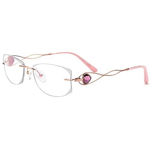 Easy Go Shopping Damen Square Water Diamond High-End Brillengestell. Sonnenbrillen und Flacher Spiegel (Farbe : Eyeglasses)