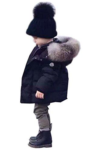 Magike Manteau garçon à Capuche Coton Bébé Hiver Chaud Fourure Ultra Épais Forme Vêtements d