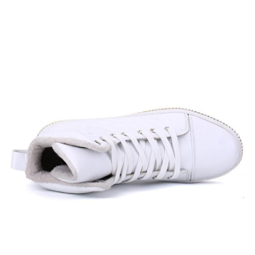 Uomo Autunno Inverno Il nuovo Tenere caldo Scarpe sportive Ballerine Plus cashmere formatori Scarpe casual euro DIMENSIONE 39-44 white