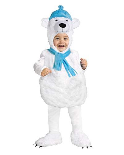 Horror-Shop Kuscheliges Eisbär Kostüm für Babys | XS-L SM 18-24 ()