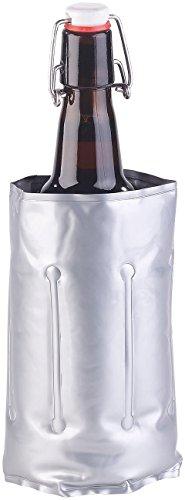 infactory Weinkühler: Flaschenkühler mit Klettverschluss für Ø 75-80 mm, Kühl- & Wärme-Gel...