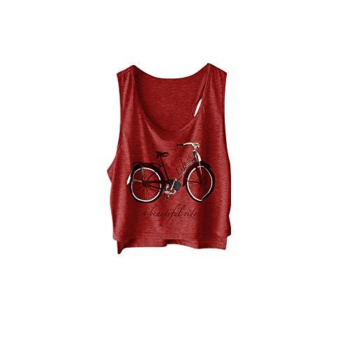 TOPSELD äRmellose Weste Damen, 5 Farbe Frauen Sommer Mode Weibliche KüHle Art Cotton Tank ()