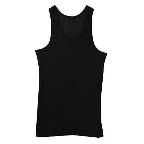 Hunpta Homme Débardeur pour corps de construction et de fitness Gilet pour homme T-shirt, noir, moyen