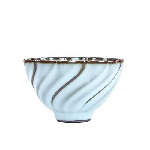 Hty Cj Mond weiße Glasur Eisen Reifen Celadon Teetasse, handgemachte Master Cup Keramik Kung Fu Tee Tasse Tee-Set 150 ml -
