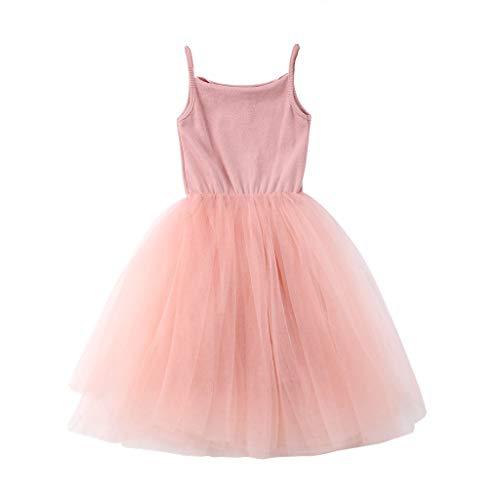 LHWY Kinder Mädchen Sommerkleid Elegante Lässige Pettiskirt Prinzessin Tüll Kleider Sling Party Kleid Baby