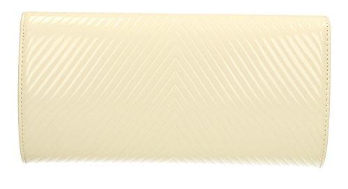 Vanesa V a busta, in pelle, da sera-Borsa da donna per matrimonio, SWANKYSWANS Bianco (bianco)