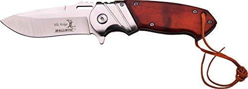 Elk Ridge Couteau de Poche Hunter Marron Bois Pakka, Longueur cm : 12,0 fermé, elkr de 1257