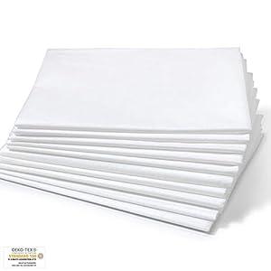 Dr. Güstel Waschfaserlaken ® PLUS 120x210cm weiss 1 Vlieslaken Auflage für Behandlungsliegen STANDARD 100 by OEKO-TEX® zertifiziert