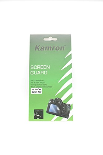 Kamron Scratchgard Anti-Ultraviolet Screen Protector For Canon EOS 70D / 80D  available at amazon for Rs.199
