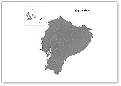 Kühlschrankmagnet, Karte von Equador mit Borders Of The Regions