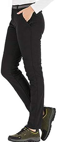 DAFENP Pantaloni Trekking Donna Invernali Impermeabile Pantaloni Sci Termici Softshell Pantaloni Neve Montagna