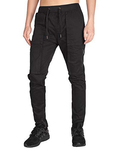 d331c0f8216bb ITALY MORN Harem Pantalones De Cargo Hombre Deporte Chinos Pantalon Skinny  Joggers Casual Algodon Negro (