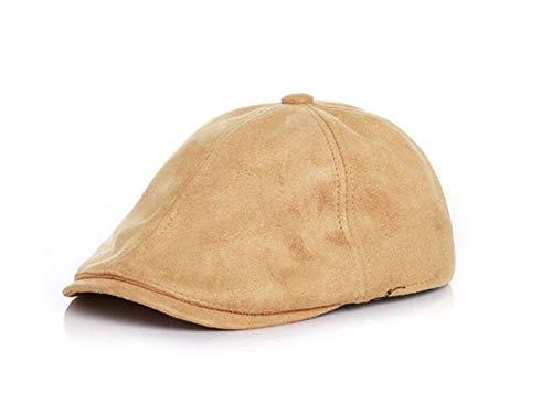 Gorros para niños pequeños Sombrero de boina de cuero de los niños del color sólido Sombrero de la tapa de la protección solar de la visera del sol de los niños para al aire libre Gorra de bebe