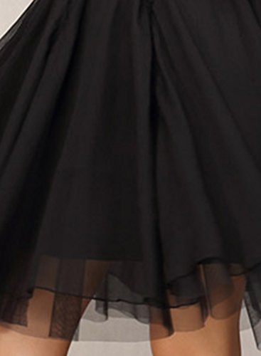 ACHICGIRL Women's Elegant 3/4 Sleeve Lace A-line Cocktail Dress Black