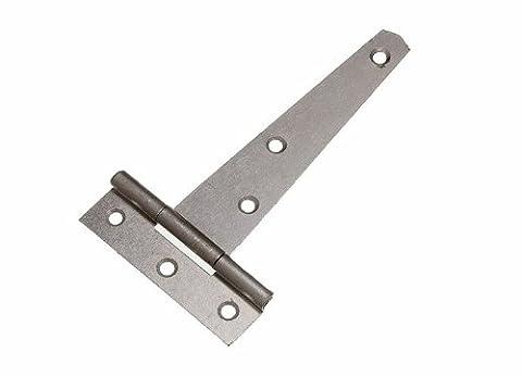 Tor Schuppen Tür-T Scharnier 4 Zoll 100mm verzinkter Stahl + Schrauben 1 Paar