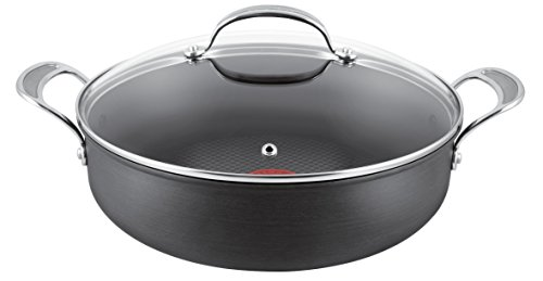 Cookware, Dining & Bar Home, Furniture & Diy Generous Tefal Jamie Oliver 28cm Hard Anodised Aluminium Frypan With Thermospot Removing Obstruction